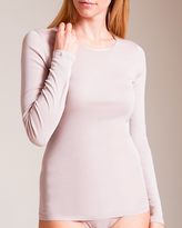 Hanro Cotton Seamless Long Sleeve Shirt