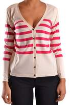 Sun 68 Women's White/red Cotton Cardigan.