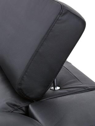 Brady 100% Premium Leather 3-Seater Left-Hand Chaise Sofa