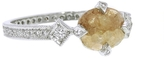 Cathy Waterman Rustic Diamond Antique Prong Ring - Platinum