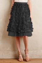 Eva Franco Fluttered Skirt In Black Petal