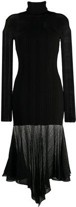Thierry Mugler Long-Sleeve Knitted Dress