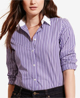 Lauren Ralph Lauren Plus Size Printed Long-Sleeve Shirt