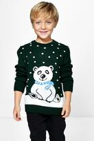Boohoo Lola Kids Polar Bear Christmas Jumper