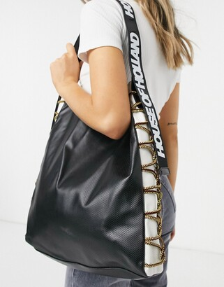 House of Holland bag with cord detail in black