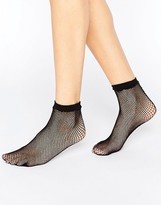 Asos Fishnet Seam Back Ankle Socks