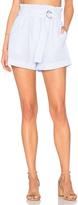 MinkPink Striped D Ring Paperbag Shorts