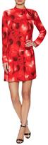 Valentino Silk Heart Printed Shift Dress