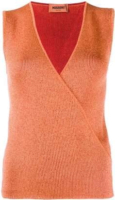 Missoni V-neck wrap top