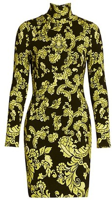 Alice + Olivia Delora Print Turtleneck Mini Dress