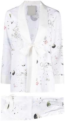 Seen Users Leo horoscope print trouser suit