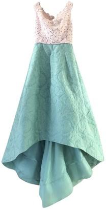Oscar de la Renta Green Lace Dresses