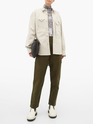 Katharine Hamnett Peter Asymmetric-pocket Cotton Utility Shirt - Womens - Beige