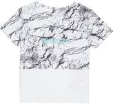 River Island Mini boys white block print T-shirt