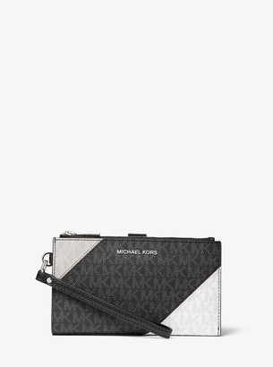 MICHAEL Michael Kors Adele Color-Block Logo Smartphone Wallet
