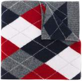 Pringle argyle slim scarf
