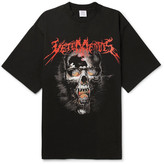 Vetements Printed Cotton-jersey T-shirt - Black