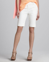 Halston Cotton Bermuda Shorts