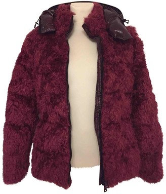 Moncler Burgundy Faux fur Coats