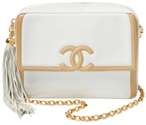 Chanel Vintage White Lambskin CC Flap Camera Medium