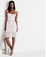 Express corded lace bustier dress