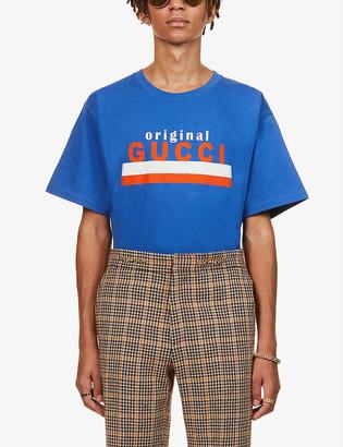 Gucci Graphic-print crewneck cotton-jersey T-shirt