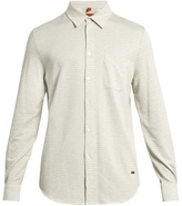 Missoni Chevron Long-sleeved Brushed-cotton Shirt