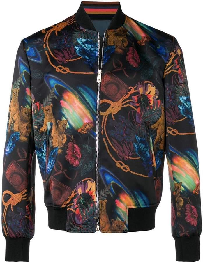 Paul Smith printed bomber jacket