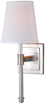 Vaxcel Ritz 1 Light Satin Nickel Bathroom Wall Fixture, 1-Light