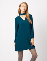 George Flare Sleeve Choker Dress
