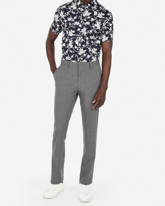 Express Slim Gray Stretch Suit Pant