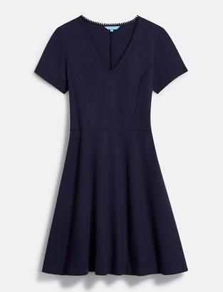 Draper James Ponte V-Neck Love Circle Dress