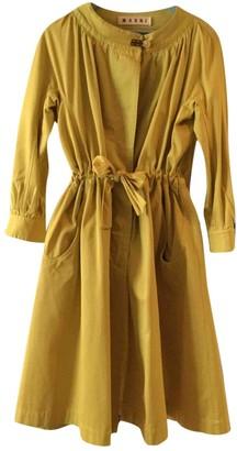 Marni Green Cotton Coat for Women