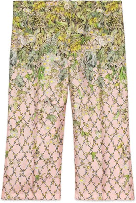 Gucci Children's Yuko Higuchi print silk trousers
