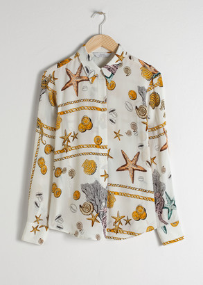 And other stories Seashell Button Up Shirt