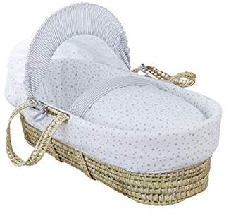 Clair De Lune Palm Moses Basket (Pink, Stars and Stripes)