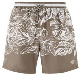 HUGO BOSS Quick-dry swim shorts with floral print