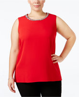 Calvin Klein Plus Size Embellished Shell