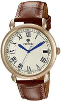 Croton Men's CN307532BRIV HERITAGE Analog Display Quartz Brown Watch
