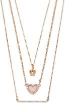 Juicy Couture Crown, Heart & Bar Layered Necklace