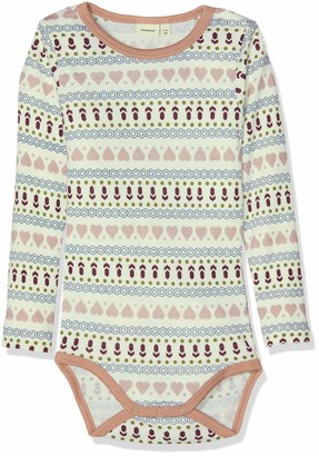 Name It Baby Girls' Nmfwillit Wool Ls Body Noos Footies