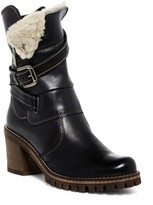 Manas Design Faux Shearling Mid Leather Boot