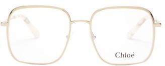 Chloé Bonnie Oversized Square Glasses - Gold