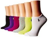 Lauren Ralph Lauren 6-Pack Flat Knit Ultra Low Cut Socks