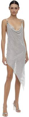 Giuseppe Di Morabito Asymmetrical Crystal Mesh Dress