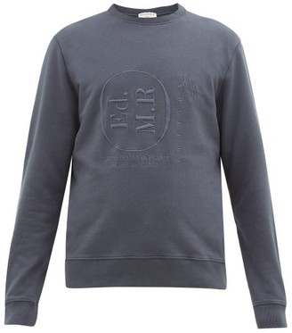 Éditions M.R Editions M.R - League Logo-embroidered Cotton-loopback Sweatshirt - Navy
