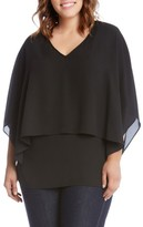 Karen Kane Plus Size Women's Double Layer Top