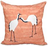 "Stilts, Animal Print Pillow, Coral, 16""x16"""