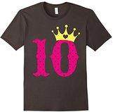 Kids 10th Birthday Girl Princess Crown T-Shirt For Girl