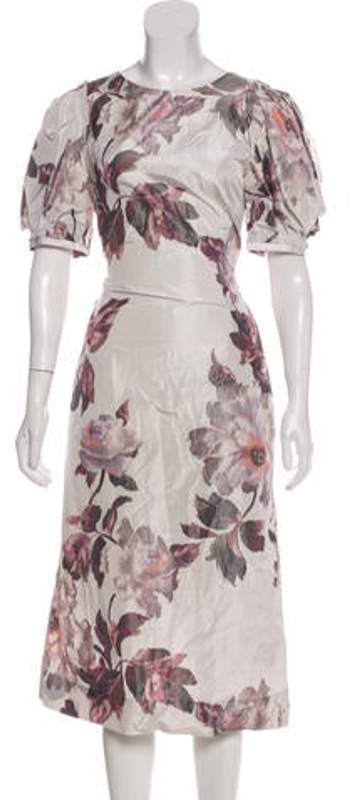 Brock Collection 2017 Floral Dress w/ Tags Grey 2017 Floral Dress w/ Tags